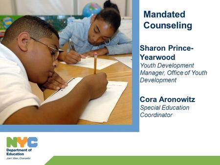 Training Goals Review the role and responsibilities of the Mandated Counseling Provider Overview of the Interactive Voice Reporting (IVR) System Review.