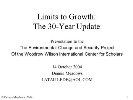 define limits growth thesis Define cornucopian thesis resources are essentially unlimited and that conservation of resources or limitations on consumption or on population growth are.
