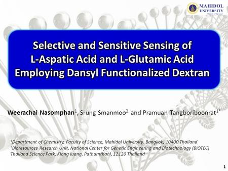 Selective and Sensitive Sensing of