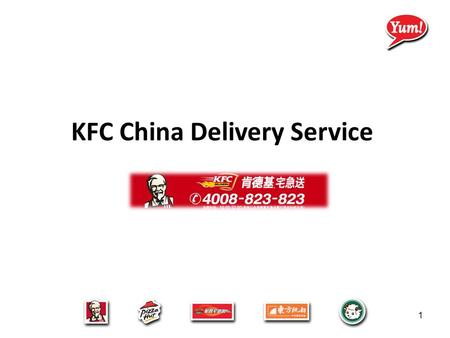 KFC China Delivery Service 1. Delivery Demand is booming  Online Shopping are accepted by more and more consumer which switch customer from physical.