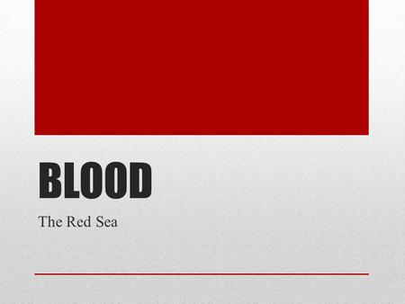 BLOOD The Red Sea. Functions of Blood Blood performs a number of functions dealing with: Substance distribution Regulation of blood levels of particular.