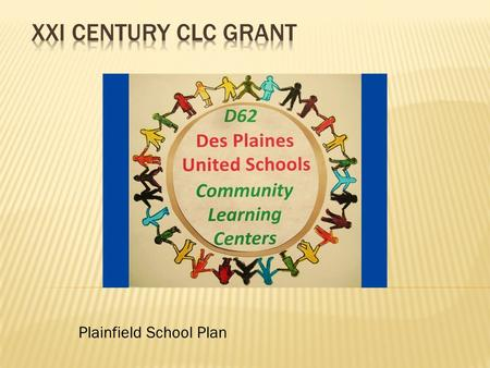 Plainfield School Plan.  Moving towards full service community school  150,000 per year for three years  Year One: 2011-12.