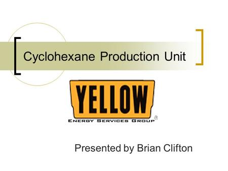 Cyclohexane Production Unit