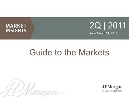 2Q | 2011 Guide to the Markets As of March 31, 2011.