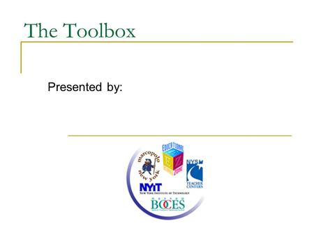 The Toolbox Presented by:. Video Email in Various Skins Click to see an example.