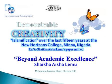 """Beyond Academic Excellence"""