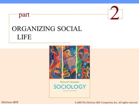 McGraw-Hill © 2005 The McGraw-Hill Companies, Inc. All rights reserved. 1 The Sociological Perspective ORGANIZING SOCIAL LIFE part McGraw-Hill 2 © 2005.