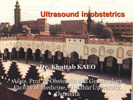 Ultrasound in obstetrics
