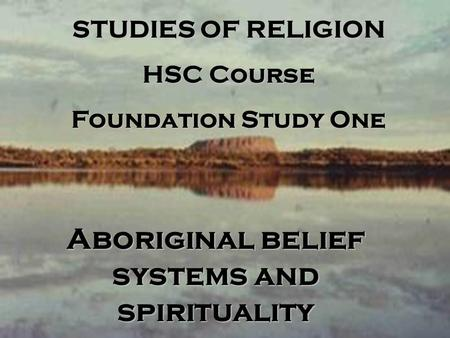 is aboriginal spirituality a religion essay