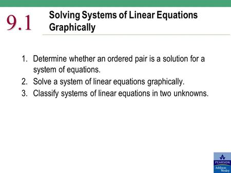 Solving Systems of Linear Equations Graphically