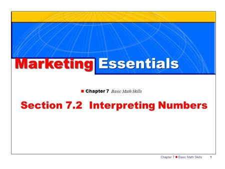 Section 7.2 Interpreting Numbers