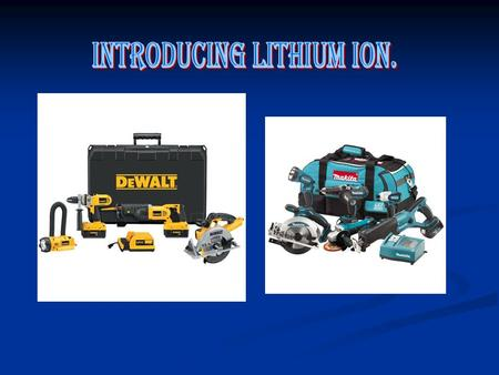 Bringing you the Makita range of 18v lithium ion tools There 18v combi drill The 18v circular saw And also the spec list on the battery its self. Dewalts.
