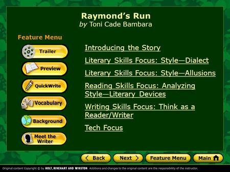 raymonds run essay View notes - raymonds run outline from gen 101 at jinnah institute of management sciences, layyah raymonds run by toni cade bambara outline and essay prompt think about the following statement: what.