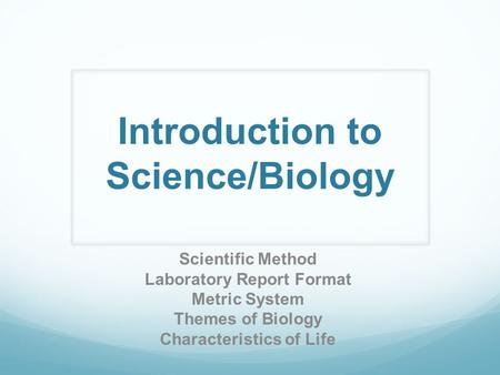 Introduction to Science/Biology