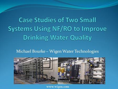 Michael Bourke – Wigen Water Technologies