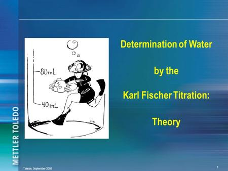 Determination of Water by the Karl Fischer Titration: