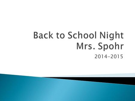 2014-2015.  Back-to-School Video – posted on the Twin Oaks website  Full implementation of English Language Arts Standards  Emphasis is on preparing.