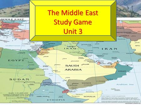 The Middle East Study Game Unit 3. Lawlessness or political disorder brought about by having NO Government ANARCHY.