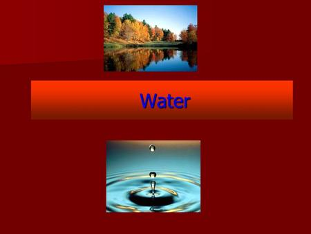 Water Water. Water – Background Paper Fresh Water: Background Information 1 FRESHWATER IS A SCARCE RESOURCE Water makes up 60 to 70 per cent (by weight)