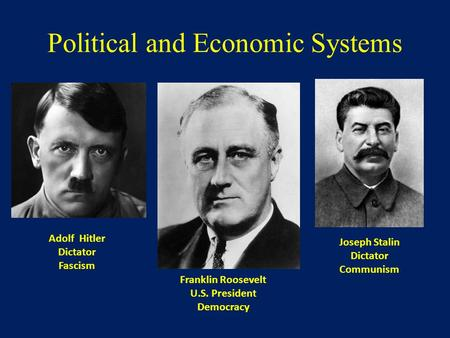 Political and Economic Systems