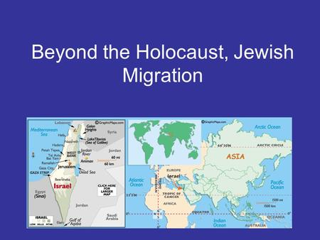 Beyond the Holocaust, Jewish Migration