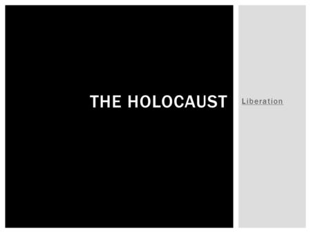Liberation THE HOLOCAUST.  What do the allied soldiers find while patrolling?  What type of conditions do the prisoners live in?  What did the Germans.