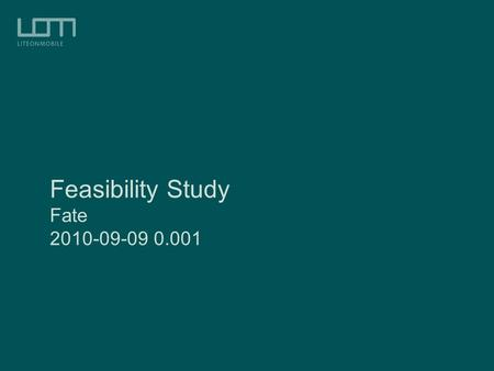 guidelines in project feasibility Guideline: feasibility evidence description completion criteria  assurance of  project feasibility in terms of capability, level of service, and evolutionary.