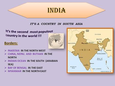 IT'S A COUNTRY IN SOUTH ASIA