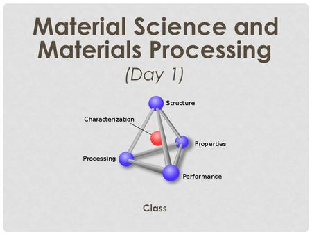 Material Science and Materials Processing (Day 1) Class.