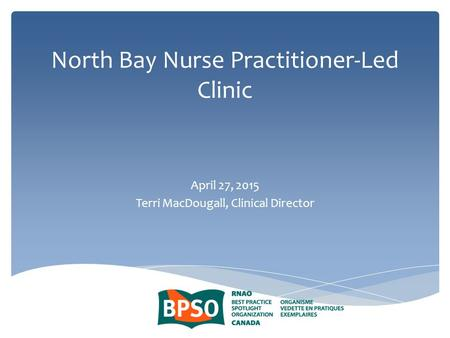North Bay Nurse Practitioner-Led Clinic