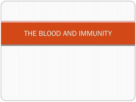 THE BLOOD AND IMMUNITY. BLOOD IS A MULTI-PURPOSE FLUID SERVES 3 MAJOR FUNCTIONS TRANSPORT NUTRIENTS, GASES, WASTES, HORMONES* REGULATION HELPS CONTROL.