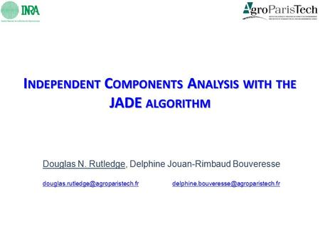 Independent Components Analysis with the JADE algorithm