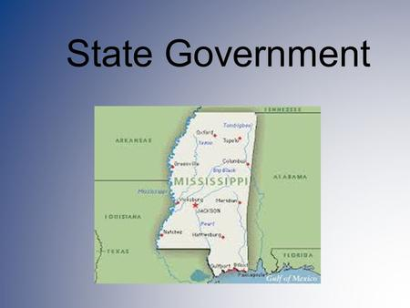 State Government. The state and federal government have a relationship… established through a constitution – A constitution sets up the framework of a.