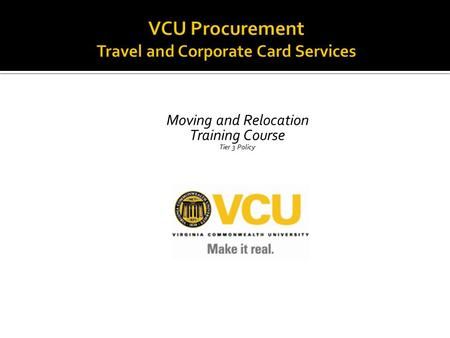 VCU Procurement Travel and Corporate Card Services
