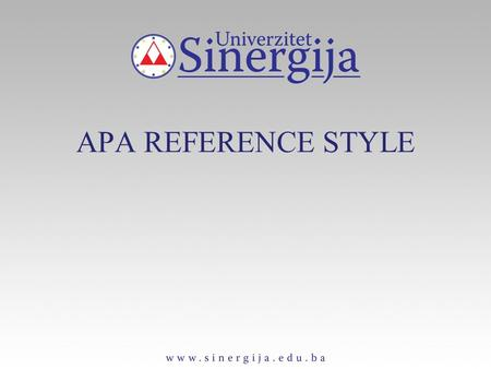 APA REFERENCE STYLE. Article in Journal Paginated by Volume Harlow, H. F. (1983). Fundamentals for preparing psychology journal articles. Journal of Comparative.