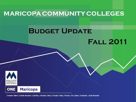 MARICOPA COMMUNITY COLLEGES Budget Update Fall 2011 Chandler-Gilbert | Estrella Mountain | GateWay | Glendale | Mesa | Paradise Valley | Phoenix | Rio.