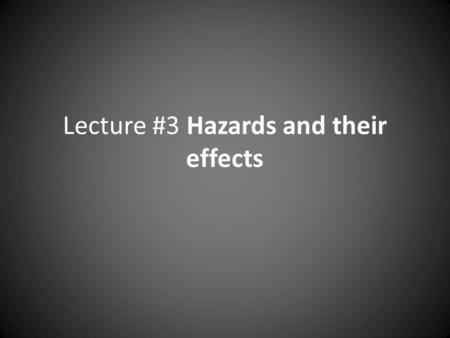 Lecture #3 Hazards and their effects. Epidemiology = The study of the distribution and causes of disease and injuries in human populations. – Epidemiologists.