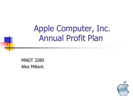 strategic apple computer inc strategic review and analysis executive summary apple Table of contents 1) executive summary 2) company description 3) strategic focus and plan 4) situation analysis 5) market-product focus 6) marketing program appendices 1 executive summary apple computer is developing a usb encrypted mass storage device for the military.