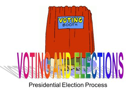 Presidential Election Process. Voters Must be eligible Must be eligible (REQUIREMENTS) 1.Citizenship 2.Minimum age of 18 3.Meet your state requirements.
