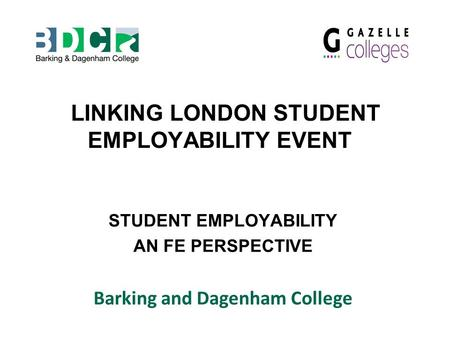LINKING LONDON STUDENT EMPLOYABILITY EVENT