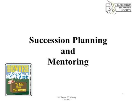 Succession Planning and Mentoring