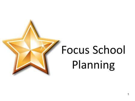 1 Focus School Planning WELCOME BACK to DAY2 4 Group Norms Start and End on Time Listen Actively Participate Actively Help Each Other Take Care of.