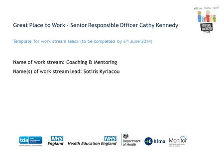 Great Place to Work – Senior Responsible Officer Cathy Kennedy