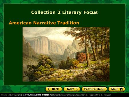 American Narrative Tradition Collection 2 Literary Focus.