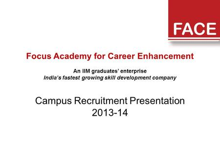 Campus Recruitment Presentation