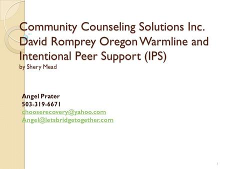 Community Counseling Solutions Inc