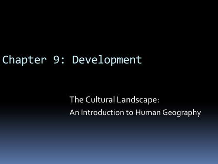 An introduction to the geography and culture of scotland