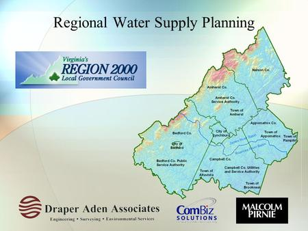 Regional Water Supply Planning. Background  Legislative history  Benefits of regional planning  Regulatory requirements  Existing water source information.