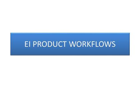 EI PRODUCT WORKFLOWS. BOOKING Current Process CUSTOMERWWAMEMBER Booking Request (EDI ) Receives Booking Request MEMBER Folder TRANSFE R (Based on CustomerControlCode.