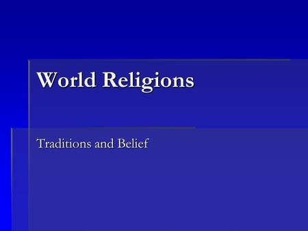 issues and traditions of western religions A identify and briefly summarize what you believe to be the top two current issues facing each of the following religions: 1) judaism 2) christianity 3) islam b identify at least two sacred traditions, such as holidays, sacred.